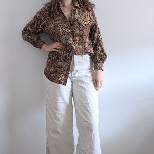 Vintage Romantic Floral Blouse